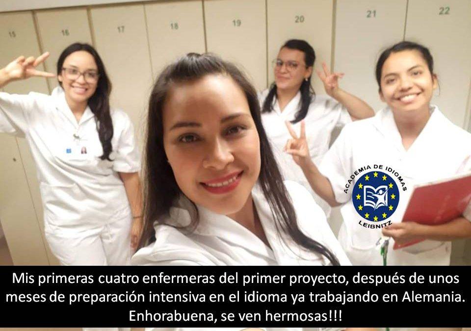 Enfermeras del primer proyecto. Leibnitz.